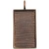 Bezel Handmade Pendant Rectang 31.5x19x2mm Antique Copper